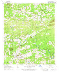 Amity Arkansas Historical topographic map, 1:24000 scale, 7.5 X 7.5 Minute, Year 1966