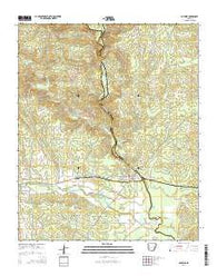 Antoine Arkansas Current topographic map, 1:24000 scale, 7.5 X 7.5 Minute, Year 2014