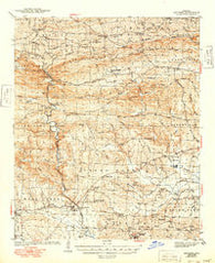 Antoine Arkansas Historical topographic map, 1:62500 scale, 15 X 15 Minute, Year 1943