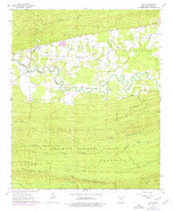 Aplin Arkansas Historical topographic map, 1:24000 scale, 7.5 X 7.5 Minute, Year 1963