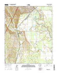 Arkadelphia Arkansas Current topographic map, 1:24000 scale, 7.5 X 7.5 Minute, Year 2014