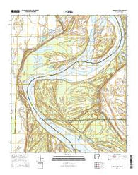 Arkansas City Arkansas Current topographic map, 1:24000 scale, 7.5 X 7.5 Minute, Year 2014