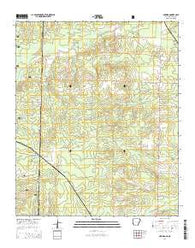 Arkinda Arkansas Current topographic map, 1:24000 scale, 7.5 X 7.5 Minute, Year 2014