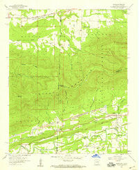 Bates Arkansas Historical topographic map, 1:24000 scale, 7.5 X 7.5 Minute, Year 1958