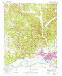 Batesville Arkansas Historical topographic map, 1:24000 scale, 7.5 X 7.5 Minute, Year 1943
