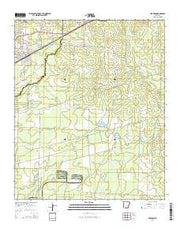Bearden Arkansas Current topographic map, 1:24000 scale, 7.5 X 7.5 Minute, Year 2014 from Arkansas Maps Store