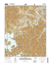 Beaver Arkansas Current topographic map, 1:24000 scale, 7.5 X 7.5 Minute, Year 2014 from Arkansas Maps Store