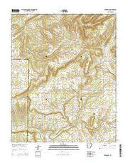 Bee Branch Arkansas Current topographic map, 1:24000 scale, 7.5 X 7.5 Minute, Year 2014 from Arkansas Maps Store