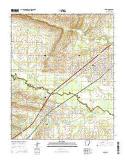 Beebe Arkansas Current topographic map, 1:24000 scale, 7.5 X 7.5 Minute, Year 2014 from Arkansas Maps Store