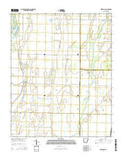 Beedeville Arkansas Current topographic map, 1:24000 scale, 7.5 X 7.5 Minute, Year 2014 from Arkansas Maps Store