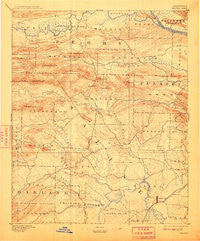 Benton Arkansas Historical topographic map, 1:125000 scale, 30 X 30 Minute, Year 1894