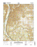 Bethesda Arkansas Current topographic map, 1:24000 scale, 7.5 X 7.5 Minute, Year 2014 from Arkansas Map Store