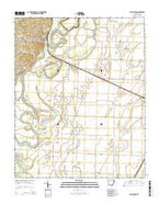 Black Rock Arkansas Current topographic map, 1:24000 scale, 7.5 X 7.5 Minute, Year 2014 from Arkansas Map Store