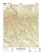Blevins Arkansas Current topographic map, 1:24000 scale, 7.5 X 7.5 Minute, Year 2014 from Arkansas Map Store