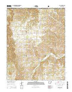Blue Eye Arkansas Current topographic map, 1:24000 scale, 7.5 X 7.5 Minute, Year 2014 from Arkansas Map Store
