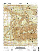 Blue Mountain Arkansas Current topographic map, 1:24000 scale, 7.5 X 7.5 Minute, Year 2014 from Arkansas Map Store