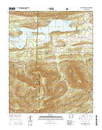 Blue Mountain Dam Arkansas Current topographic map, 1:24000 scale, 7.5 X 7.5 Minute, Year 2014 from Arkansas Map Store