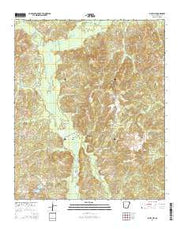 Bluff City Arkansas Current topographic map, 1:24000 scale, 7.5 X 7.5 Minute, Year 2014 from Arkansas Maps Store