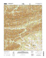 Brushy Creek Mountain Arkansas Current topographic map, 1:24000 scale, 7.5 X 7.5 Minute, Year 2014 from Arkansas Maps Store