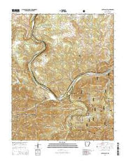 Buffalo City Arkansas Current topographic map, 1:24000 scale, 7.5 X 7.5 Minute, Year 2014 from Arkansas Maps Store