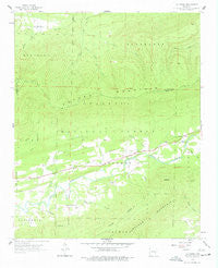 Cauthron Arkansas Historical topographic map, 1:24000 scale, 7.5 X 7.5 Minute, Year 1958