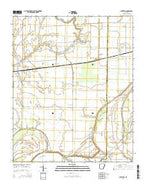 Chatfield Arkansas Current topographic map, 1:24000 scale, 7.5 X 7.5 Minute, Year 2014 from Arkansas Map Store