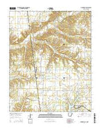 Cherokee City Arkansas Current topographic map, 1:24000 scale, 7.5 X 7.5 Minute, Year 2014 from Arkansas Map Store