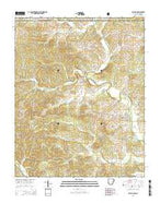 Dalton Arkansas Current topographic map, 1:24000 scale, 7.5 X 7.5 Minute, Year 2014 from Arkansas Map Store