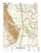 Dansby Arkansas Current topographic map, 1:24000 scale, 7.5 X 7.5 Minute, Year 2014 from Arkansas Map Store