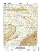 Danville Arkansas Current topographic map, 1:24000 scale, 7.5 X 7.5 Minute, Year 2014 from Arkansas Map Store