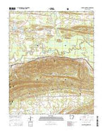 Danville Mountain Arkansas Current topographic map, 1:24000 scale, 7.5 X 7.5 Minute, Year 2014 from Arkansas Map Store