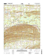 Danville Mountain Arkansas Current topographic map, 1:24000 scale, 7.5 X 7.5 Minute, Year 2014 from Arkansas Maps Store