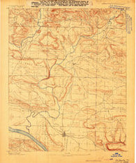 Dardanelle #1 Arkansas Historical topographic map, 1:62500 scale, 15 X 15 Minute, Year 1888
