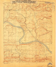 Dardanelle #2 Arkansas Historical topographic map, 1:62500 scale, 15 X 15 Minute, Year 1888