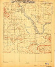 Dardanelle #4 Arkansas Historical topographic map, 1:62500 scale, 15 X 15 Minute, Year 1888