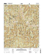Deer Arkansas Current topographic map, 1:24000 scale, 7.5 X 7.5 Minute, Year 2014 from Arkansas Map Store