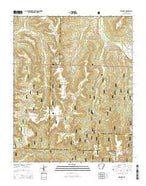 Delaney Arkansas Current topographic map, 1:24000 scale, 7.5 X 7.5 Minute, Year 2014 from Arkansas Map Store