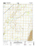 Delaplaine Arkansas Current topographic map, 1:24000 scale, 7.5 X 7.5 Minute, Year 2014 from Arkansas Map Store