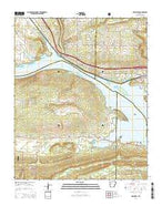 Delaware Arkansas Current topographic map, 1:24000 scale, 7.5 X 7.5 Minute, Year 2014 from Arkansas Map Store