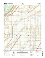 Dell Arkansas Current topographic map, 1:24000 scale, 7.5 X 7.5 Minute, Year 2014 from Arkansas Map Store