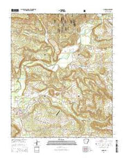 Dover Arkansas Current topographic map, 1:24000 scale, 7.5 X 7.5 Minute, Year 2014 from Arkansas Maps Store