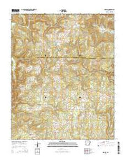 Drasco Arkansas Current topographic map, 1:24000 scale, 7.5 X 7.5 Minute, Year 2014 from Arkansas Maps Store