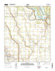 Dumas Arkansas Current topographic map, 1:24000 scale, 7.5 X 7.5 Minute, Year 2014 from Arkansas Maps Store