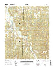 Durham Arkansas Current topographic map, 1:24000 scale, 7.5 X 7.5 Minute, Year 2014 from Arkansas Maps Store