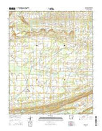 Enola Arkansas Current topographic map, 1:24000 scale, 7.5 X 7.5 Minute, Year 2014 from Arkansas Map Store