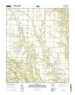 Ethel Arkansas Current topographic map, 1:24000 scale, 7.5 X 7.5 Minute, Year 2014 from Arkansas Map Store
