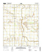 Eudora NW Arkansas Current topographic map, 1:24000 scale, 7.5 X 7.5 Minute, Year 2014 from Arkansas Map Store