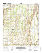 Eudora South Arkansas Current topographic map, 1:24000 scale, 7.5 X 7.5 Minute, Year 2014 from Arkansas Map Store
