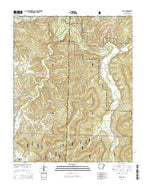 Eula Arkansas Current topographic map, 1:24000 scale, 7.5 X 7.5 Minute, Year 2014 from Arkansas Map Store