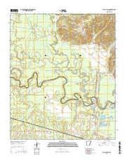 Falls Chapel Arkansas Current topographic map, 1:24000 scale, 7.5 X 7.5 Minute, Year 2014 from Arkansas Maps Store